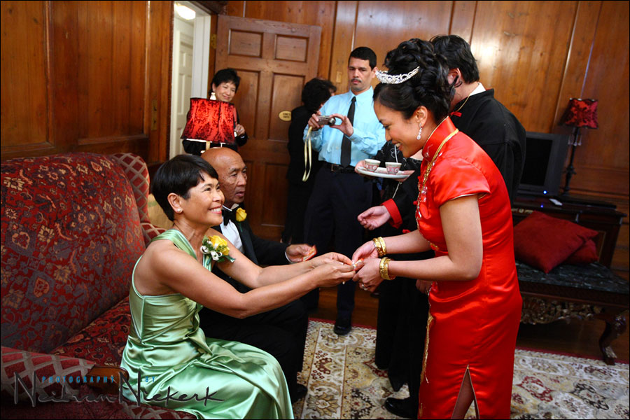 Chinese tea ceremony at a wedding, NJ Skylands Manor