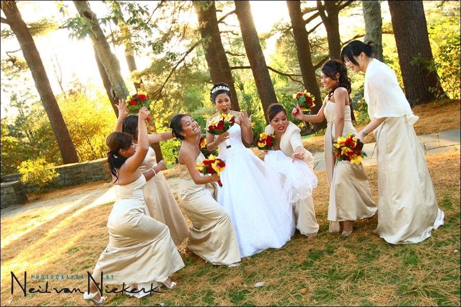 Skylands Manor wedding NJ bridesmaids