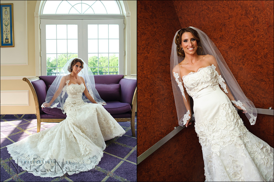 photos of bride at Rockleigh country club, NJ