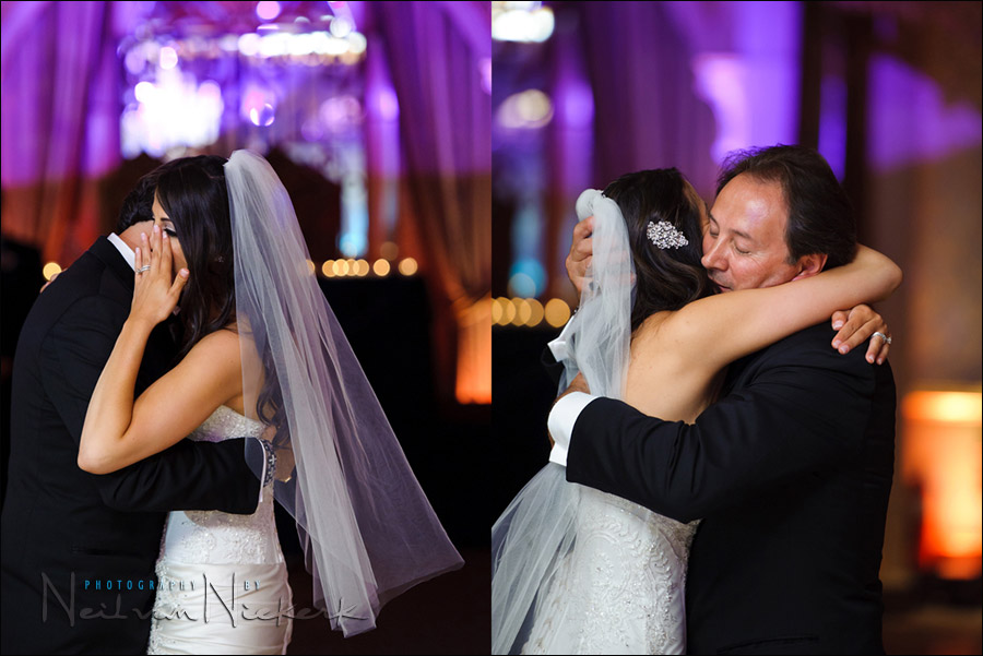 bride and father dance at wedding