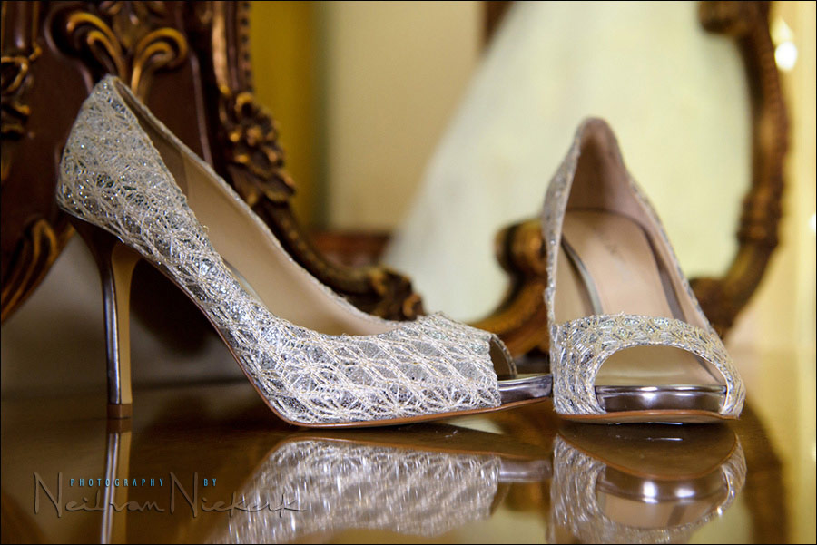 Enzo Angiolini bride's shoes wedding