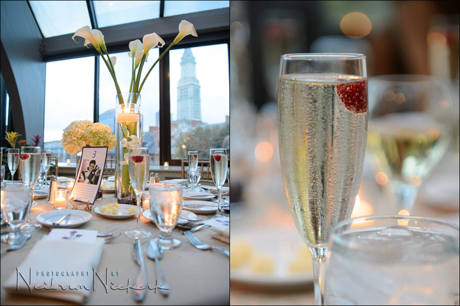 Millenium Bostonian hotel wedding reception details