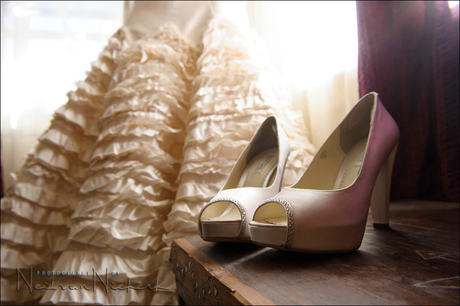 Benjamin Adams bride's shoes
