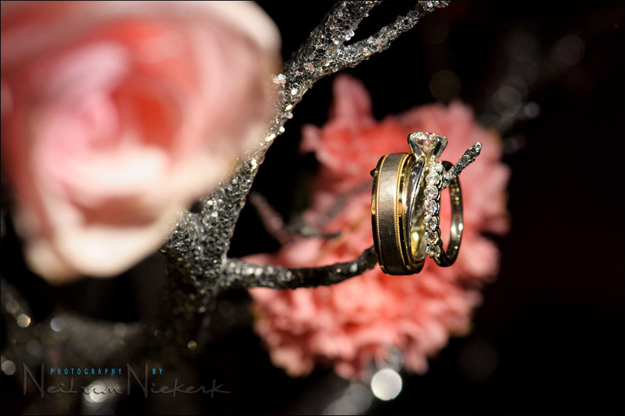 creative photo wedding rings