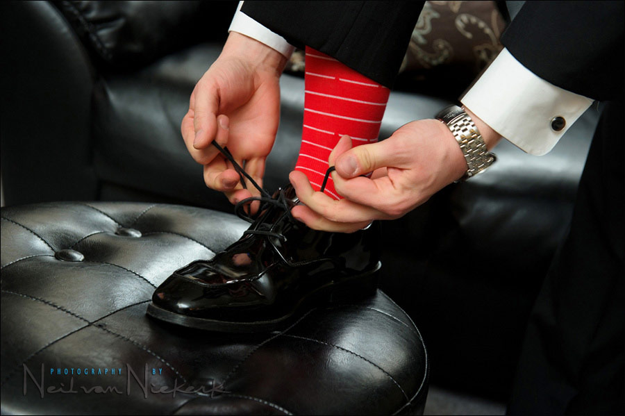 funky groom's socks for his wedding day