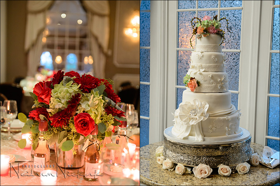 wedding cake, and table decorations, Valley Regency