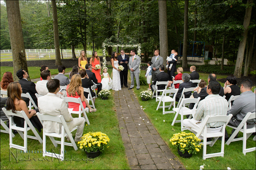 back-yard garden wedding NJ