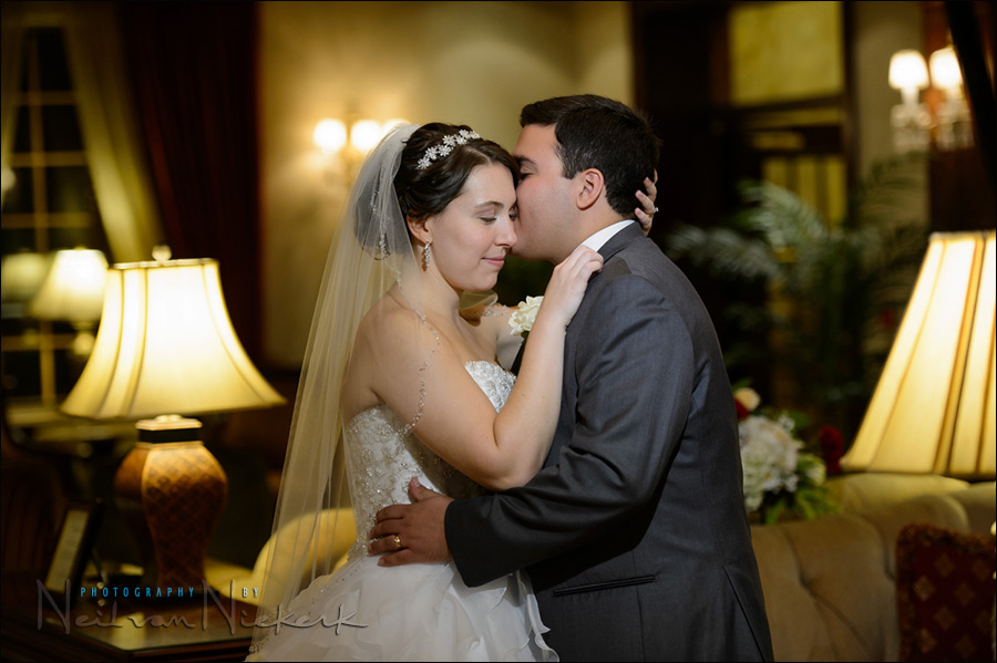 NJ weddings - romantic portraits of the bride and groom
