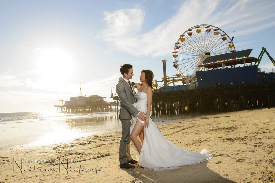Santa Monica wedding photos photographer, Casa del Mar, beach