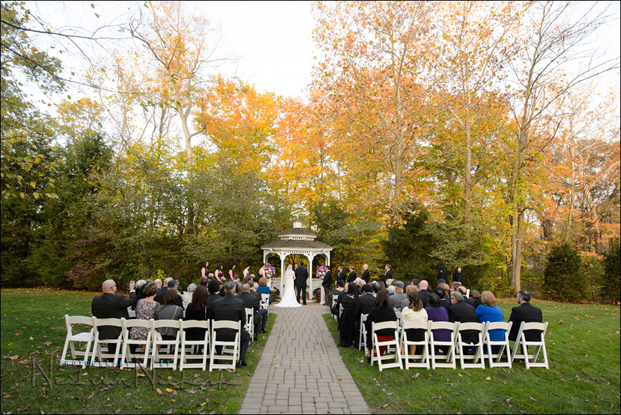 Olde Mill Inn wedding ceremony outdoors