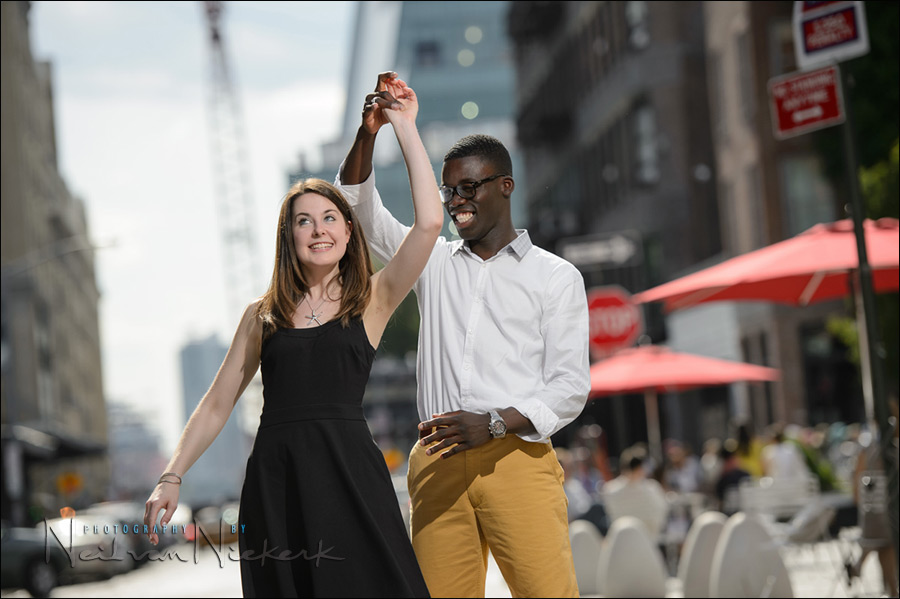 NYC engagement photo session