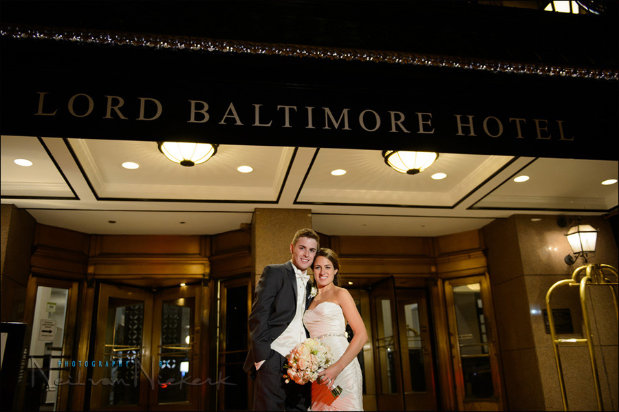 Lord Baltimore hotel wedding photographer