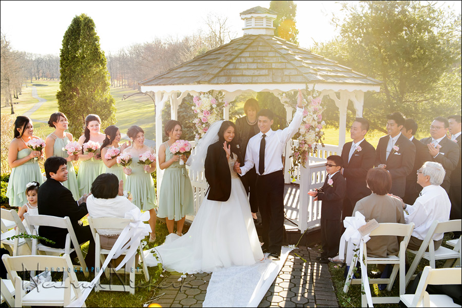 Knoll CC NJ wedding ceremony photos