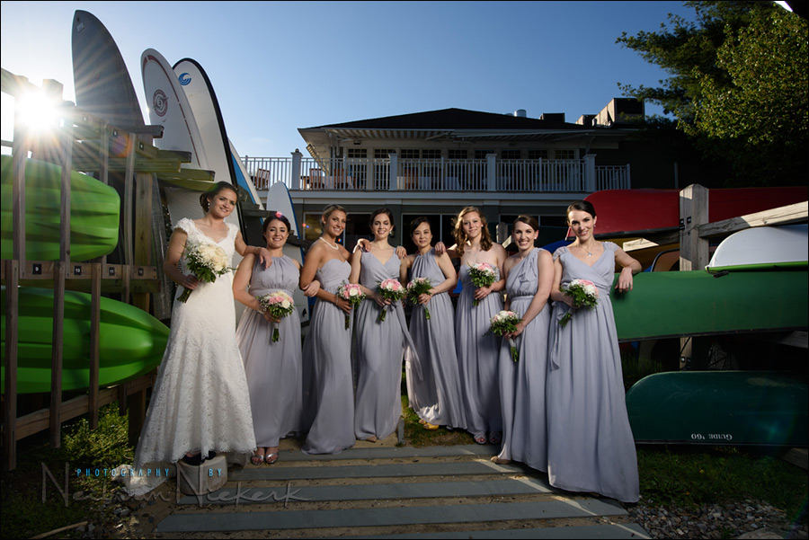 Mountain Lakes Club NJ wedding bridal party