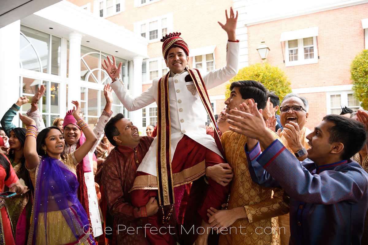 Indian wedding Baraat wedding photographer NJ