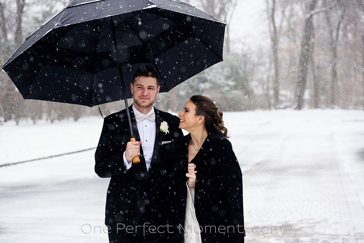 Crystal Plaza NJ wedding in winter NJ photographer