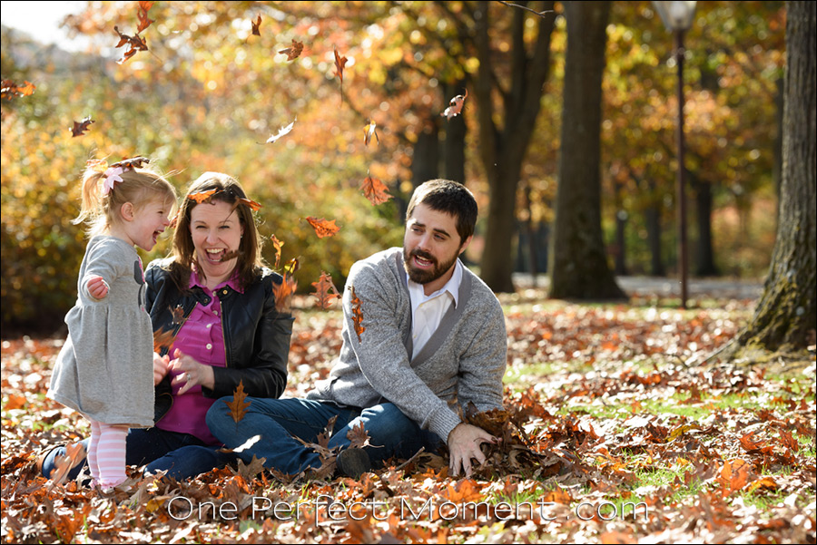 Fall family portraits candid photography