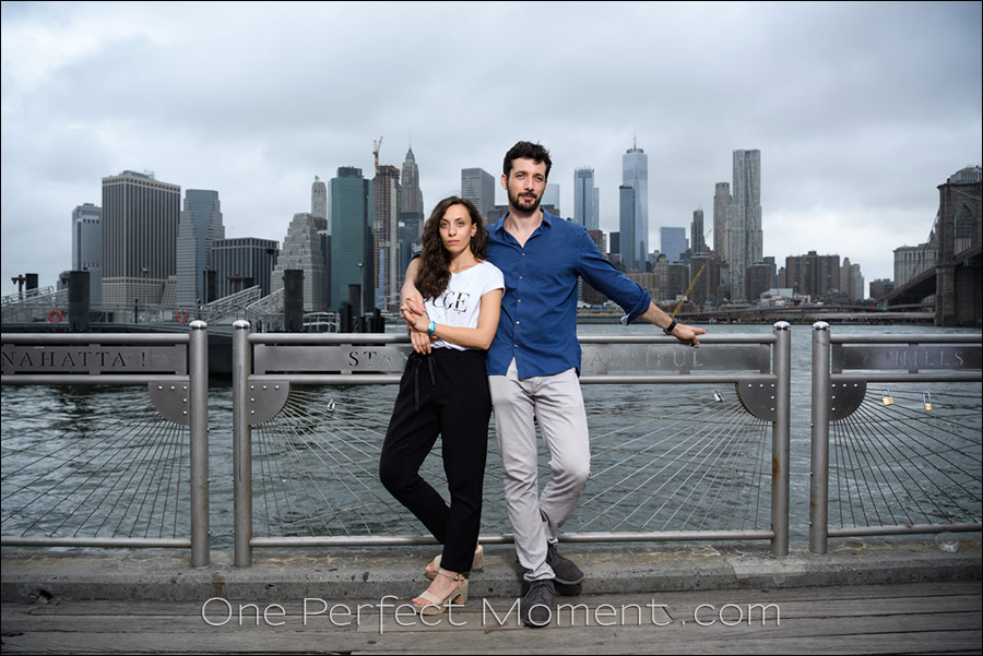 New York photo session NYC skyline couple